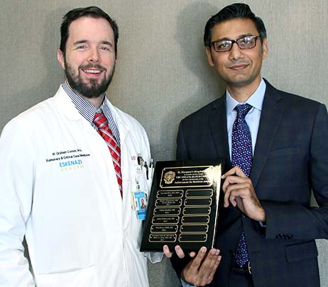 Dr. W. Graham Carlos III and Dr. Babar Khan Honored with 2017 Achievement in Medicine (AIM) Awards
