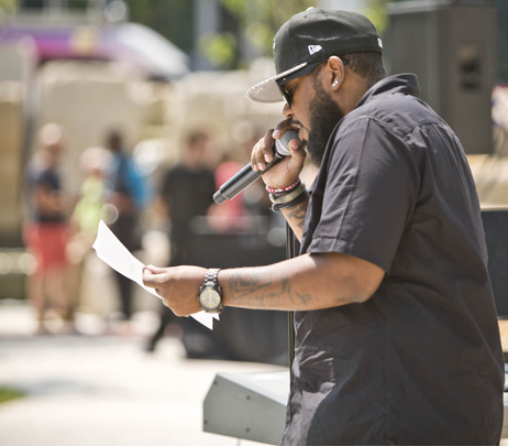 Indianapolis native Tony Styxx performs at Eskenazi Health