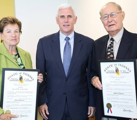 Sidney and Lois Eskenazi Receive Sagamore of the Wabash